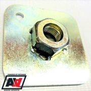 "Weld-On Eyebolt Back Plate 7/16"" Thread For Seat Belt Harness FIA Approved"